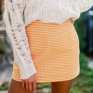 Urban Outfitters Gingham Mini Skirt